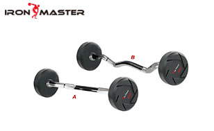 Accessory Exercise Home Olympic Barbell Weight Set CPU/Rubber Barbell With Curl Handle