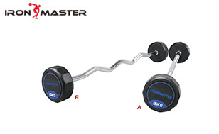 Accessory Exercise Home Rubber Barbell With Straight Handle