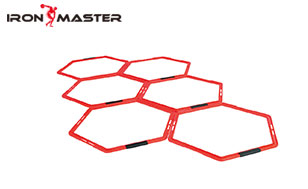 Accessory Exercise Home Hexagonal Speed Agility Rings