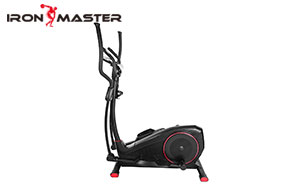 Home Gym Exercise Equipment Lcd Monitor And Smooth Quiet Driven Magnetic Elliptical  Bike