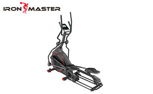 Home Gym Exercise Equipment Magnetic Elliptical Machine Trainer Smooth Quiet Driven With Lcd Monitor/dual Handles For Home Use