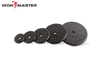 Artigos deportivos Exercicio de ferro fundido peso muscular Placas de pintura negras